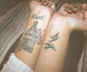 tattoo, bird, and faith image