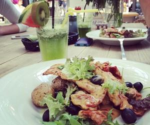 food, salad, and fruit image