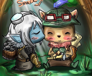 tristana, teemo, and league of legends image