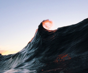 waves, ocean, and photography image