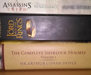 books, sherlock holmes, and the lord of the rings image