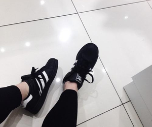 adidas, black, and shoes image