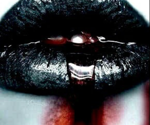 lips, black, and blood image