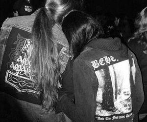 couple, metal, and metalhead image