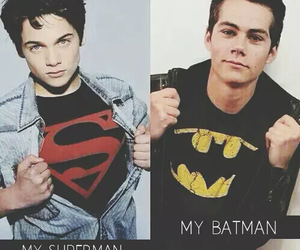 teen wolf, batman, and superman image