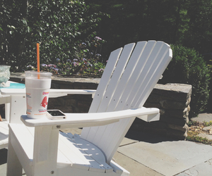 summer, dunking donuts, and sun image