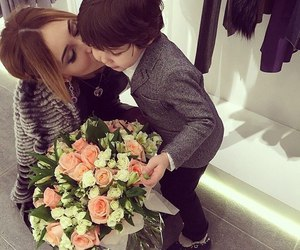 baby, roses, and family image