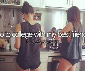 before i die, friends, and college image