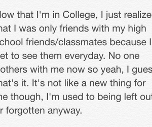 classmates, college, and forgotten image