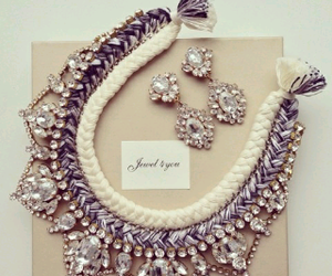 necklace, diamond, and earrings image