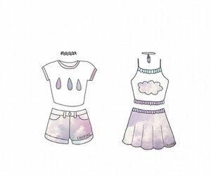 clothes, draw, and kawaii image