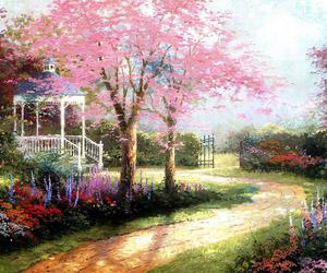 spring, garden, and flowers image