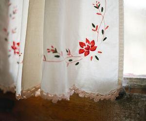 vintage, window, and flowers image