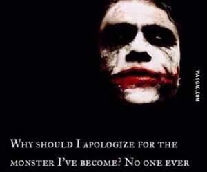 monster, joker, and quote image