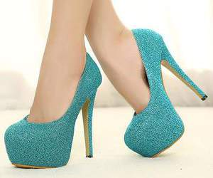 shoes, tacones, and blue image