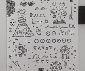 art, fall out boy, and doodle image