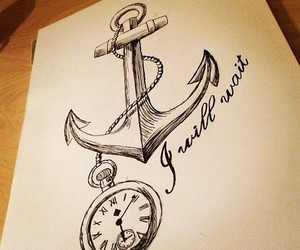 anchor, drawing, and art image