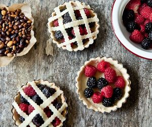 food, pie, and berries image