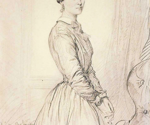 19th century, drawing, and portrait image