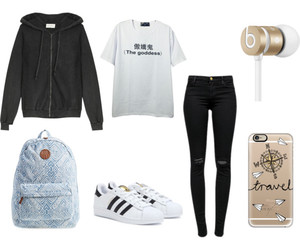 clothes, hoodie, and outfit image