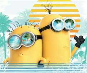minions, summer, and beach image