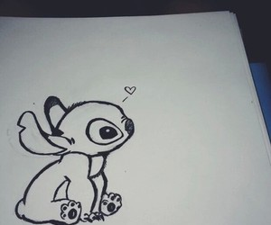 draw, cute, and stich image