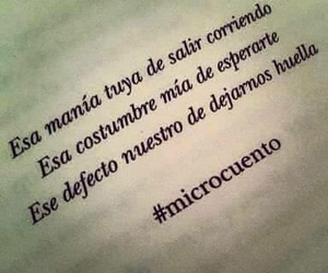 frases, microcuento, and huella image