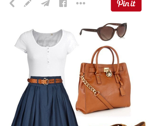 fashion, skirt, and navy blue image