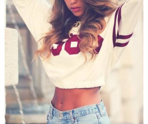 high waisted shorts, maroon, and crop top image