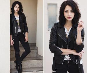 girl, emily rudd, and black image