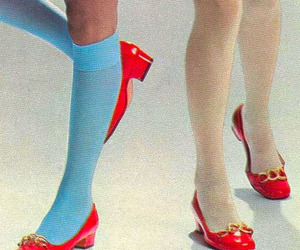 red, shoes, and blue image