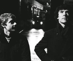 sherlock, john watson, and Martin Freeman image