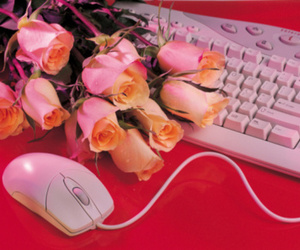 computers and flowers image