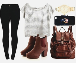 ankle boots, indie, and bagpack image