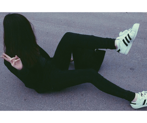 black, girl, and adidas image