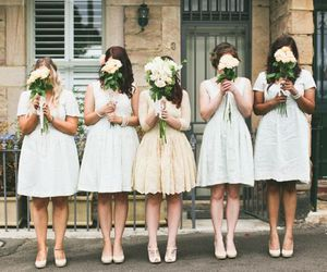 bouquet, bridesmaids, and fashion image