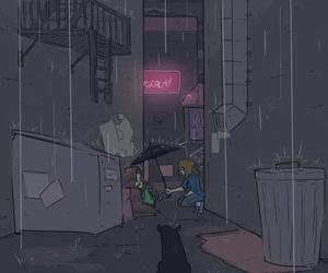 human, lost, and rain image