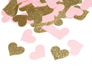 princess party, confetti hearts, and baby shower decorations image