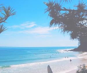 beach, bright, and ocean image
