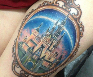 disney, tattoo, and castle image