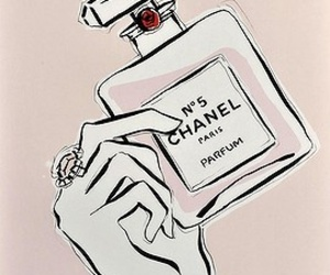 chanel, illustration, and paint image