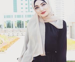 beauty, hijab, and style image