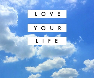 love, life, and sky image