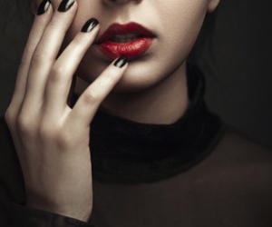 awesome, red lips, and women image