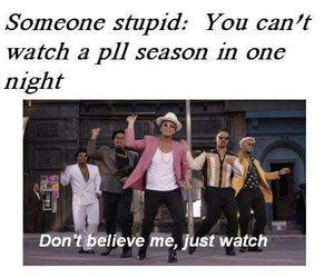 pretty little liars, bruno mars, and pll image