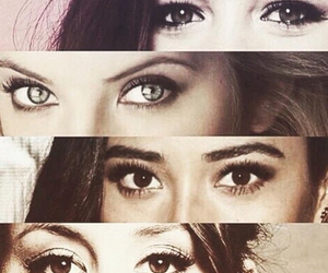 pll, pretty little liars, and eyes image
