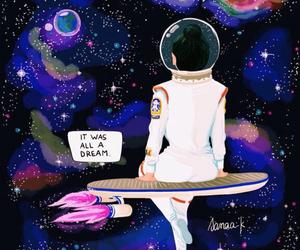 drawing, Dream, and nasa image