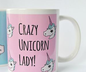 unicorn, crazy, and cup image