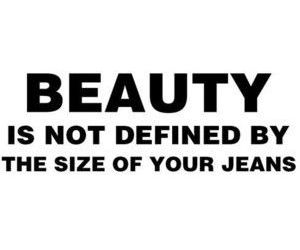 beauty, jeans, and quote image