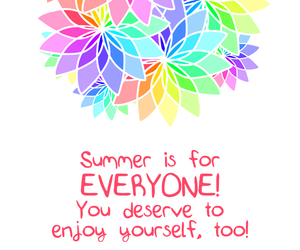 colors, quote, and summer image